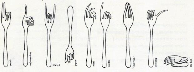 bruno munari-forchette parlanti